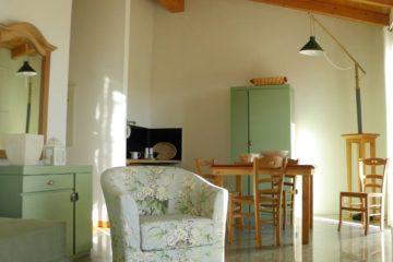 Zona living appartamento Pistacchio