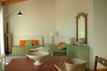 Zona soggiorno appartamento Pistacchio