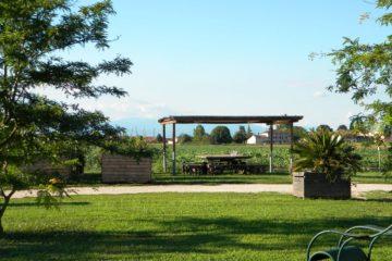 Area attrezzata per picnic, pranzi e cene all'aperto
