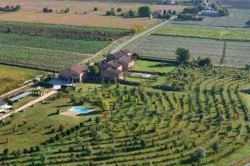 Veduta della Foresteria Borgogelsi dall'alto